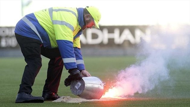 Rangers have said they will pay for any damage caused by the flare