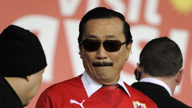 Cardiff City's owner Vincent Tan is pictured before their English Premier League soccer match against Sunderland in Cardiff