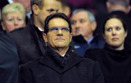 Former England manager Fabio Capello at a Premier League football match on February 6. Capello resigned in February following a row with the Football Assocation over their decision to strip John Terry of the national team captaincy without consulting the Italian