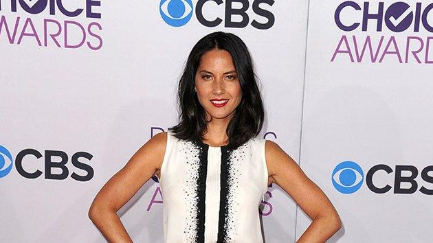 """WORST: Olivia Munn.  While black and white is always a chic combination on the red carpet, the gorgeous """"Newsroom"""" star looks positively frumpy in this ruffled number."""