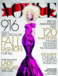 Lady Gaga on the cover of Vogue's September edition