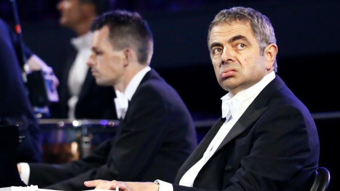 Actor Rowan Atkinson performs during the opening ceremony of the London 2012 Olympic Games