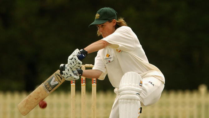 Belinda Clark of Australia in action