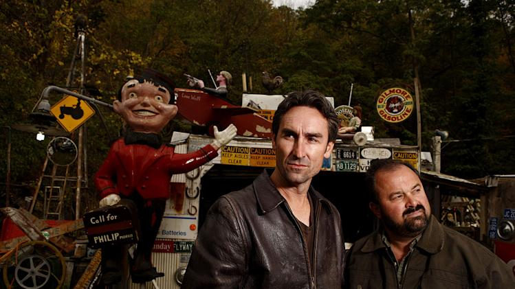 "Mike Wolfe and Frank Fritz in ""American Pickers."""