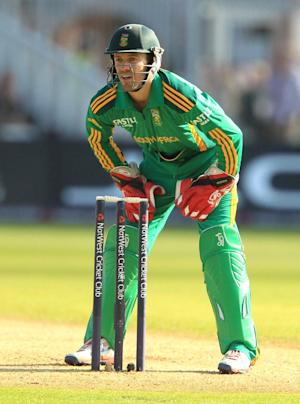 AB de Villiers, pictured, has confidence in the South African bowling attack