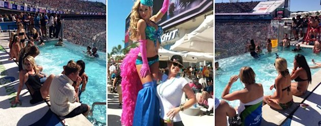 The party atmosphere at Jaguars games is attracting new fans. (Eric Adelson/Yahoo Sports)