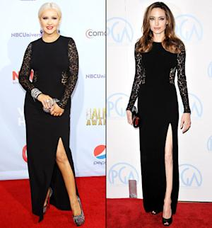 Who Wore It Best: Christina Aguilera or Angelina Jolie?