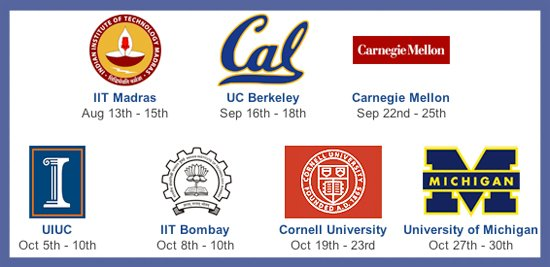 Yahoo! Hack U Fall 2010 school logos