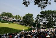 A general-view of the 18th green during the final round of the 2006 US Open Championship at Winged Foot Golf Club on June 18, 2006 in Mamaroneck, New York. Winged Foot Golf Club in suburban Mamaroneck was named host of the 2020 US Open on Monday by the US Golf Association, marking the sixth time the club has hosted the major championship