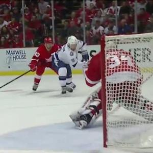 Johnson speeds to the net to beat Mrazek