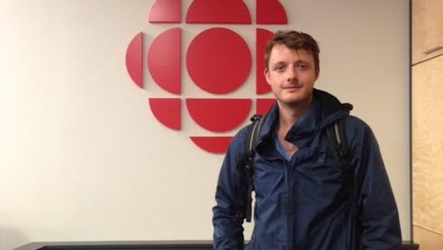 German filmmaker Lukas Wagner was in Gander this week, doing research on his upcoming documentary on the town. (Melissa Tobin/CBC)