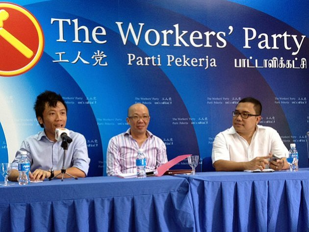 Nizam Ismail (right) was one of the speakers at the Workers' Party Youthquake Seminar (Yahoo! photo)