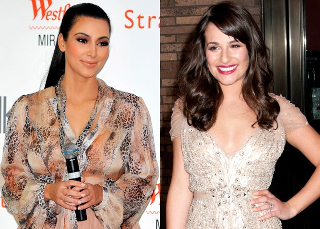 Kim Kardashian and Lea Michele