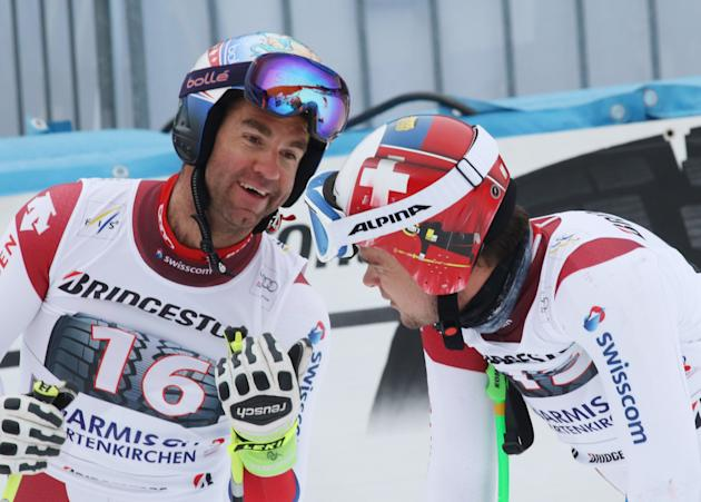 Reichelt edges Jansrud in World Cup downhill training