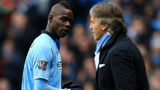 Premier League - Mancini and Balotelli in training ground bust-up