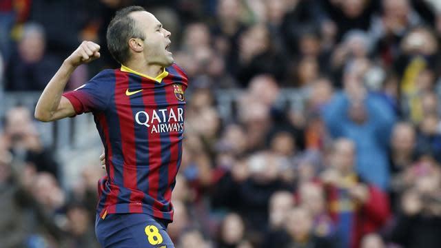 Liga - Iniesta back for Barca's Cup clash against Levante