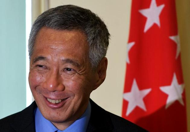 Singapore Prime Minister Lee Hsien Loong at a press conference in Putrajaya, Malaysia, on April 7, 2014