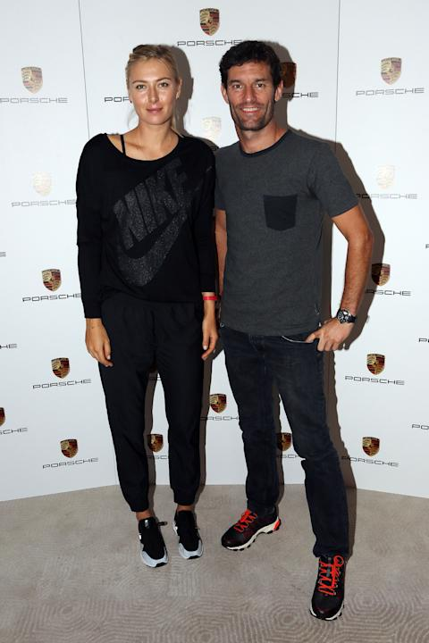 Maria Sharapova And Mark Webber - Porsche Photo Call