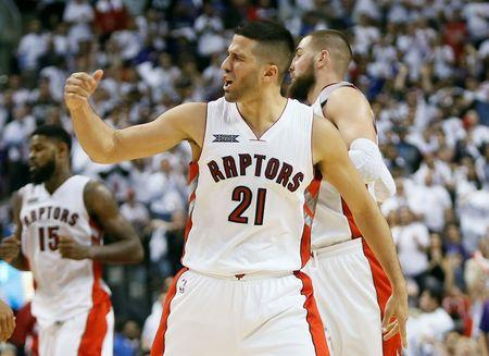 Imagen de archivo de la NBA: Playoffs - Washington Wizards vs Toronto Raptors