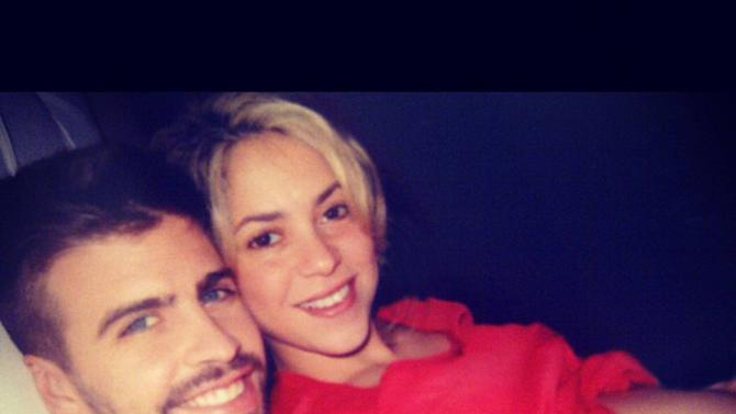 Shakiraposted this image of herself and Gerard Pique on Instagram with the caption 'Podr�a estar 9 meses m�s as�! I could have another 9 months like this! Shak'credit:Shakira/Instagram - 28.11.12Supplied by WENN.com(WENN does not claim any Copyright or License in the attached material. Any downloading fees charged by WENN are for WENN's services only, and do not, nor are they intended to, convey to the user any ownership of Copyright or License in the material. By publishing this material, the user expressly agrees to indemnify and to hold WENN harmless from any claims, demands, or causes of action arising out of or connected in any way with user's publication of the material.)