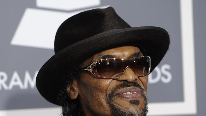 "FILE - In this Feb. 13, 2011 file photo, Chuck Brown arrives at the 53rd annual Grammy Awards in Los Angeles. Brown, who styled a unique brand of funk music as a singer, guitarist and songwriter known as the ""godfather of go-go,"" died Wednesday, May 16, 2012 after suffering from pneumonia. He was 75.  (AP Photo/Chris Pizzello, File)"