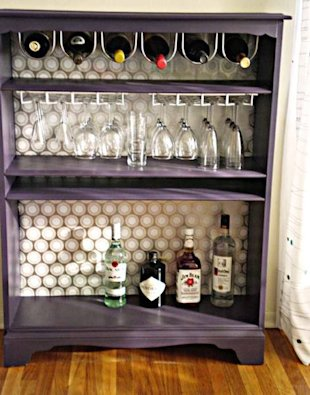 Bookcase to Wine Cabinet