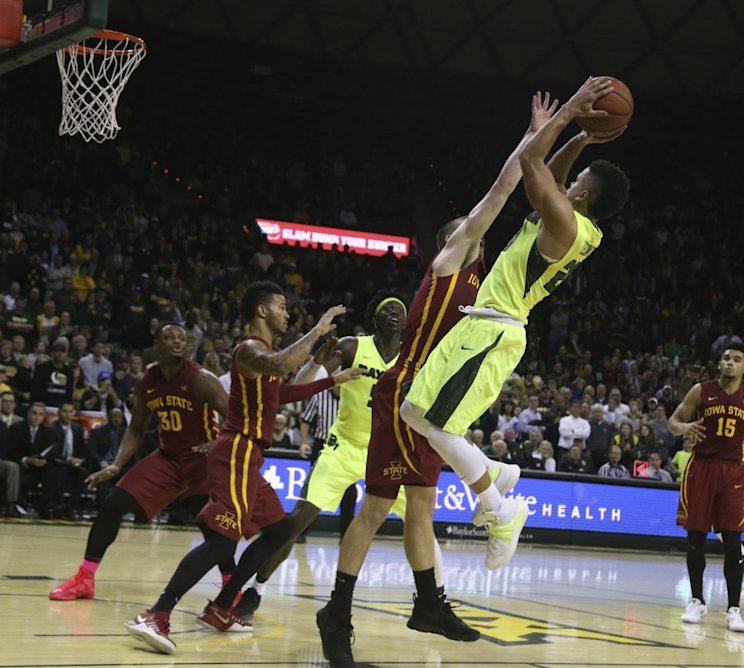 Manu Lecomte kept Baylor undefeated with this game winner to beat Iowa State (AP)