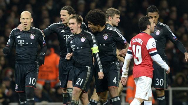 Champions League - Bayern outclass Arsenal to take control of tie