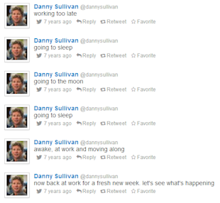 Find Your Old Tweets: How to Find Your First (Worst?) Tweet image danny sullivan first tweets