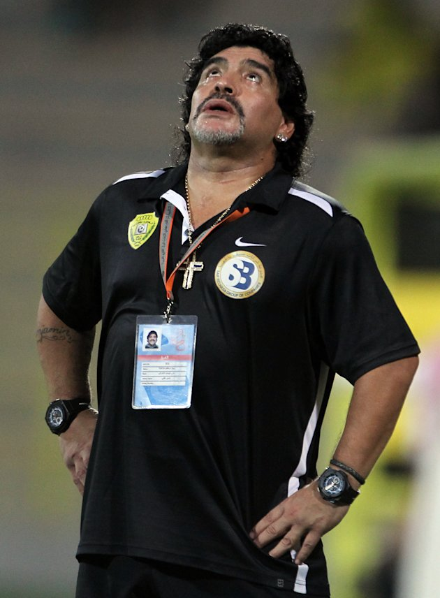 Diego Maradona, former coach of UAE's Al-Wasl club, may find better luck in Singapore. (Getty Images)