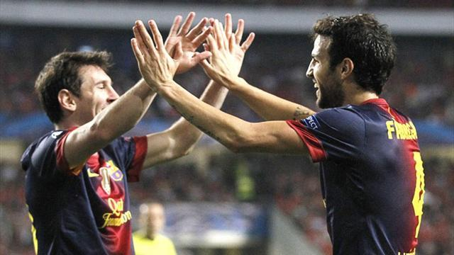 Champions League - Russian obstacles no excuse for Barca, says Fabregas