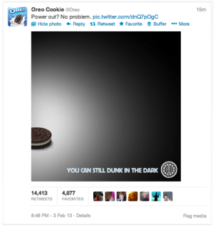 17 Ways to Succeed in Viral Content Marketing image Oreo Twitter Image