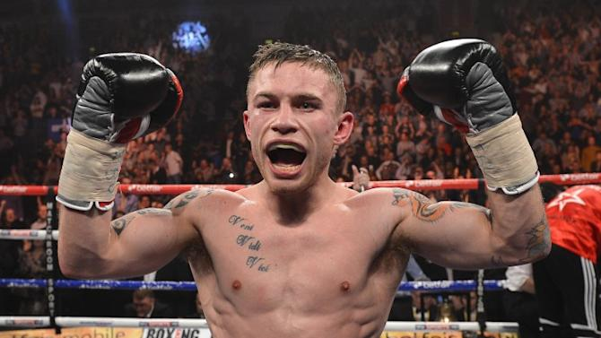 Frampton KOs Parodi to close in on world title shot