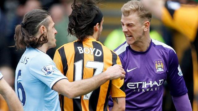 Premier League - Boyd banned for three matches for spitting at Hart
