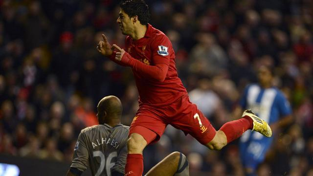 Premier League - Suarez double sees Liverpool beat Wigan
