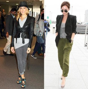 Sarah Jessica Parker and Victoria Beckham Display Chic Airport Style