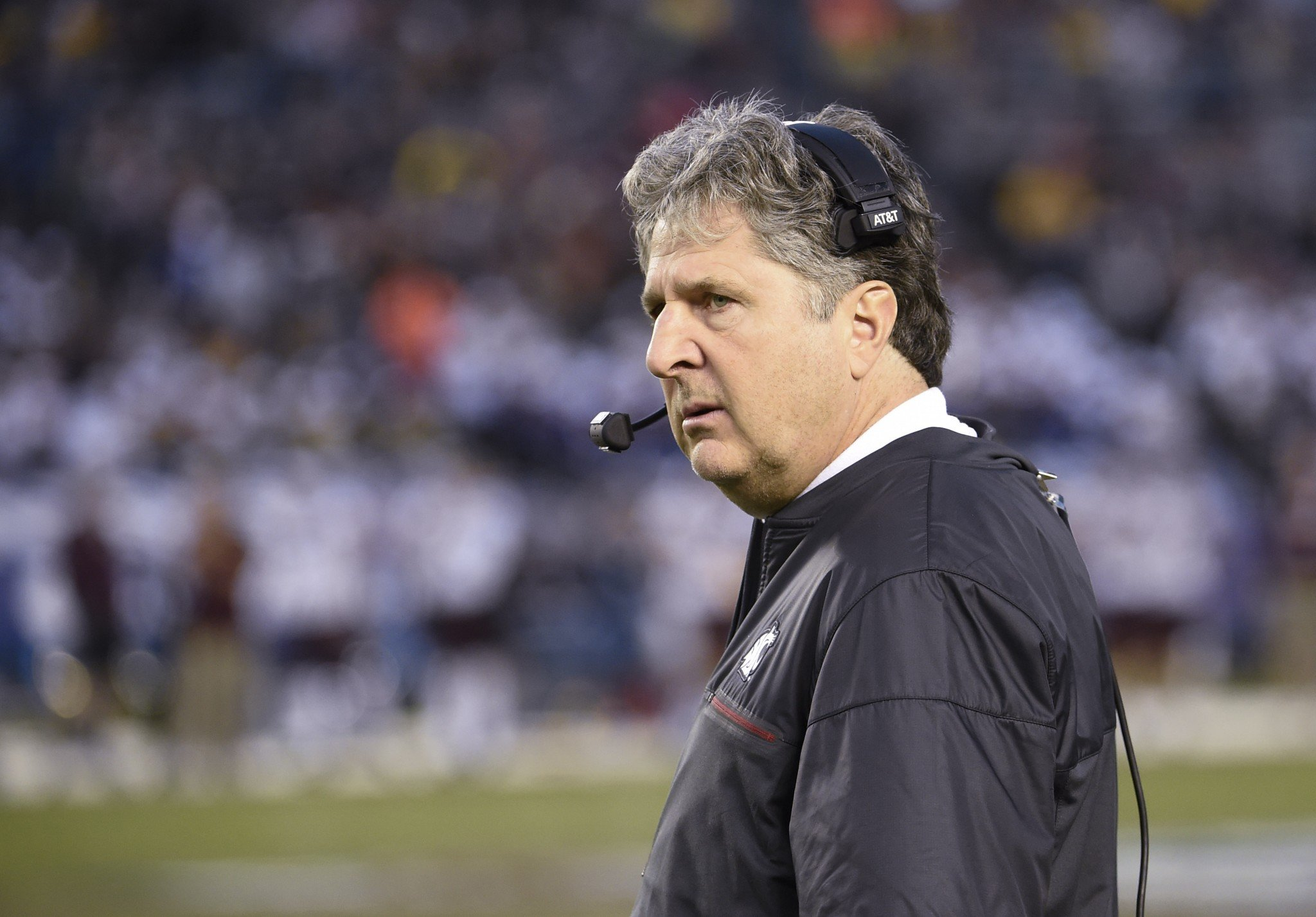 Washington State coach Mike Leach has some thoughts about SEC offenses. (AP Photo/Denis Poroy)