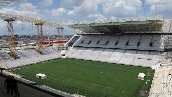 The Arena Sao Paulo stadium is seen as construction continues in Sao Paulo