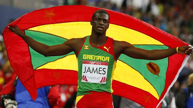 Commonwealth Games - Grenada's James lights up Glasgow with emphatic 400 win