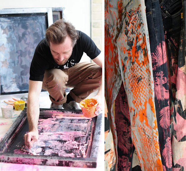 Art Attack-ed Denim! Simeon Farrar And Donna Ida Customise Jeans With Neon Paint