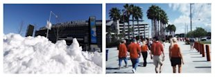 Super Bowl XLVIII Location Stimulates Social Media Conversations image Super Bowl Stadium MetLife vs Raymond James