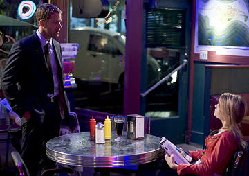 "Colin Ferguson as Federal Marshall Jack Carter and Jordan Hinson as Zoe Carter Sci-Fi's ""Eureka"" Eureka"
