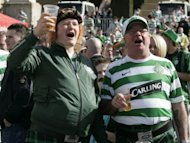 Celtic supporters at a match in 2008. Tony Watt marked his competitive first start with a double as Celtic comfortably dispatched Inverness Caledonian Thistle 4-2 at the Caledonian Stadium despite a late rally from the home side