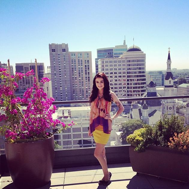 Celebrity Twitpics: Cher Lloyd is currently touring across America, with her debut single charting in the top 10. The singer tweeted this gorgeous picture of herself in the sunshine, alongside the sim