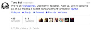 Taco Bell Sends Snapchat, Young People Freak Out image taco bell screenshot 4