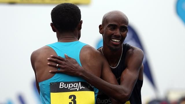 Athletics - Bekele beats Farah in dramatic Great North Run finale