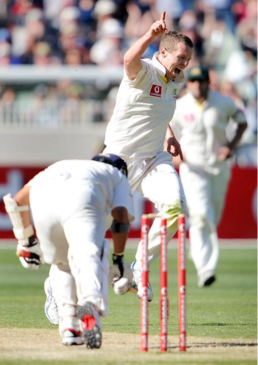 December 26-29, 2011 (1st Test at the MCg): India 1st Innings - Sachin Tendulkar b Peter Siddle 73; India 2nd Innings - Sachin Tendulkar c Michael Hussey b Siddle 32. India's away Test woes contin