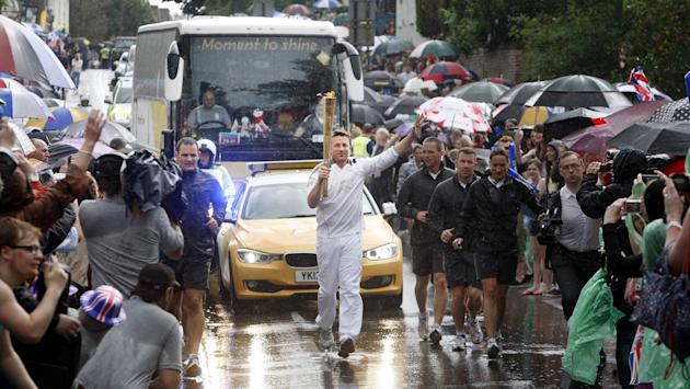 Day 50 - The Olympic Torch Continues Its Journey Around The UK