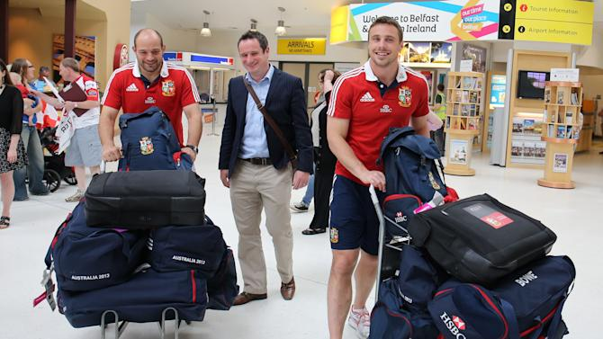Rugby Unions - British and Irish Lions Squad Return - George Best Belfast City Airport