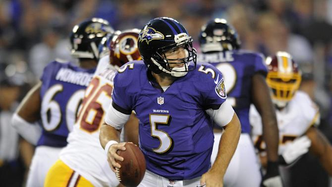 Flacco's TD pass helps Ravens beat Redskins 23-17